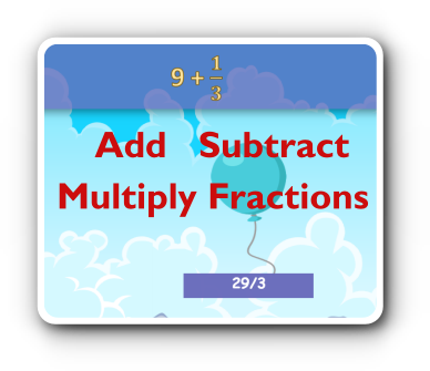 fraction addition and subtraction game thumbnail