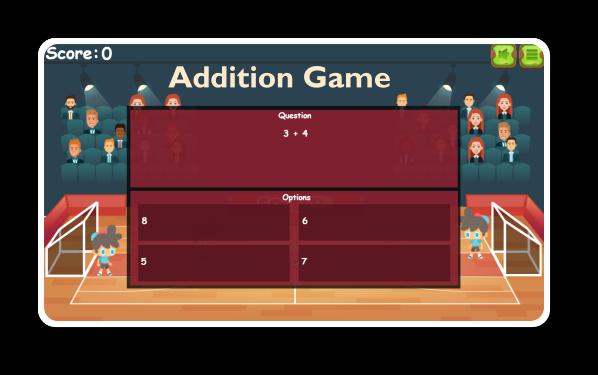 Addition Games Grade 1