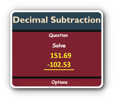 decimal number subtraction game thumbnail