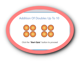 Adding doubles up to 10 math quiz for kids