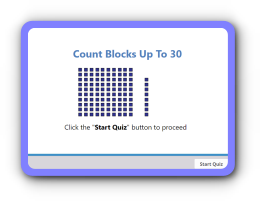 Count blocks up to 30 math Quiz for kids