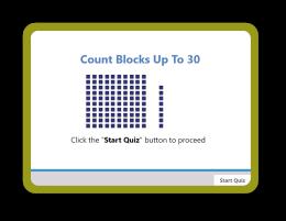A 100 chart math Quiz for Kindergarten