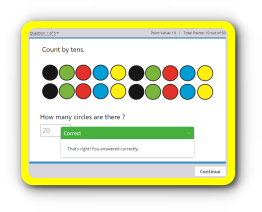 Skip – Count by tens online math game