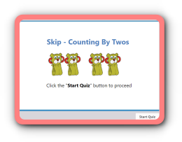 Count by twos skip-counting online math quiz