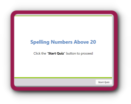 Write tens and ones up to 30 math quiz.