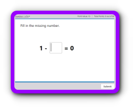 Subtraction sentences completion up to 5 math quiz
