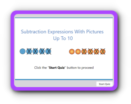Subtraction terms with pictures up to 10 math quiz
