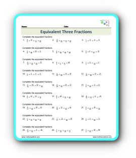How Equivalent Three Fractions